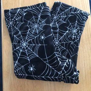 Velvet Soft Spider Web Leggings